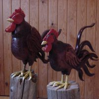 Roosters by Bev Clark