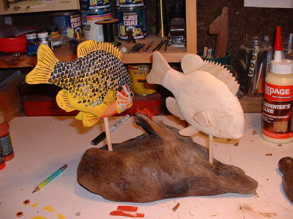 Sunfish - in progress by Bev Clark