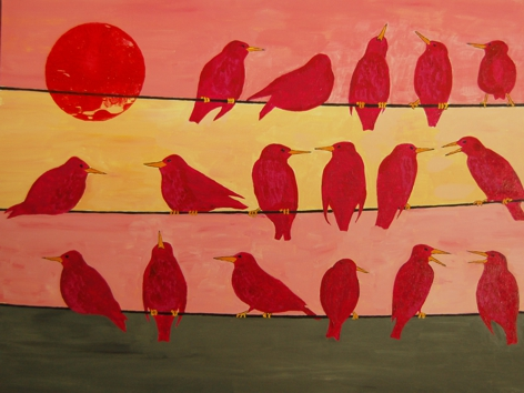 Starlings at Sunset 2