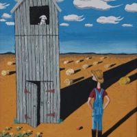 White Dog 1 by Bev Clark