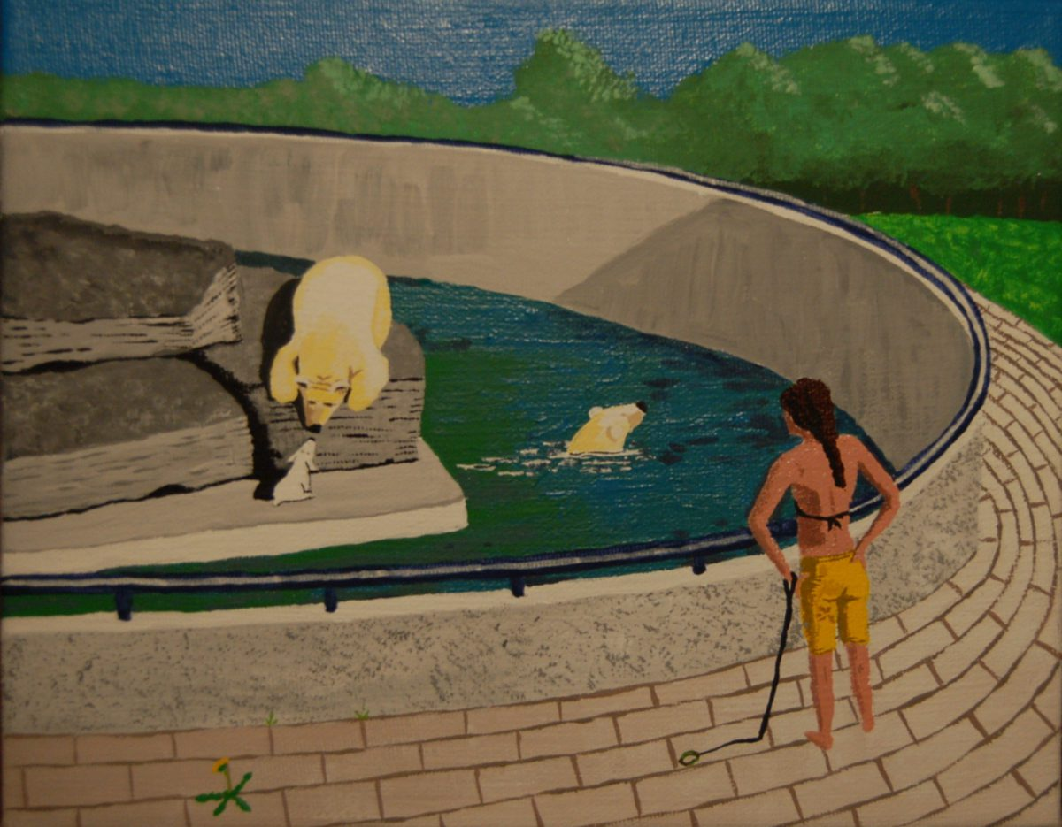 White Dog 2 by Bev Clark