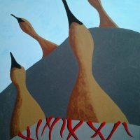 Leatherbirds by Bev Clark