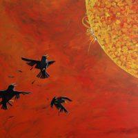 Wax Starlings by Bev Clark