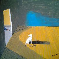 White Dog 3 by Bev Clark