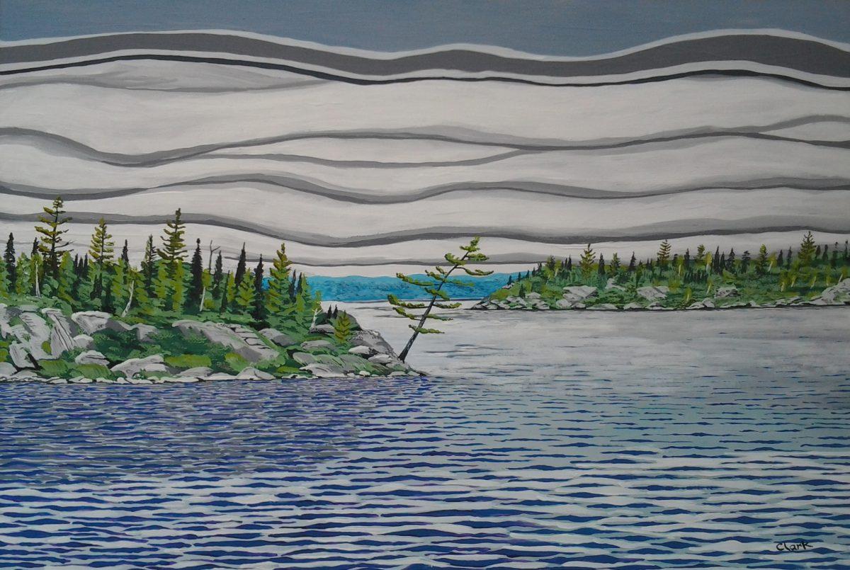 Winnipeg River by Bev Clark
