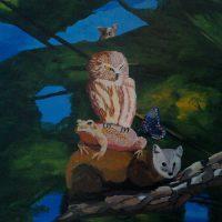 Peaceable Kingdom 5 by Bev Clark