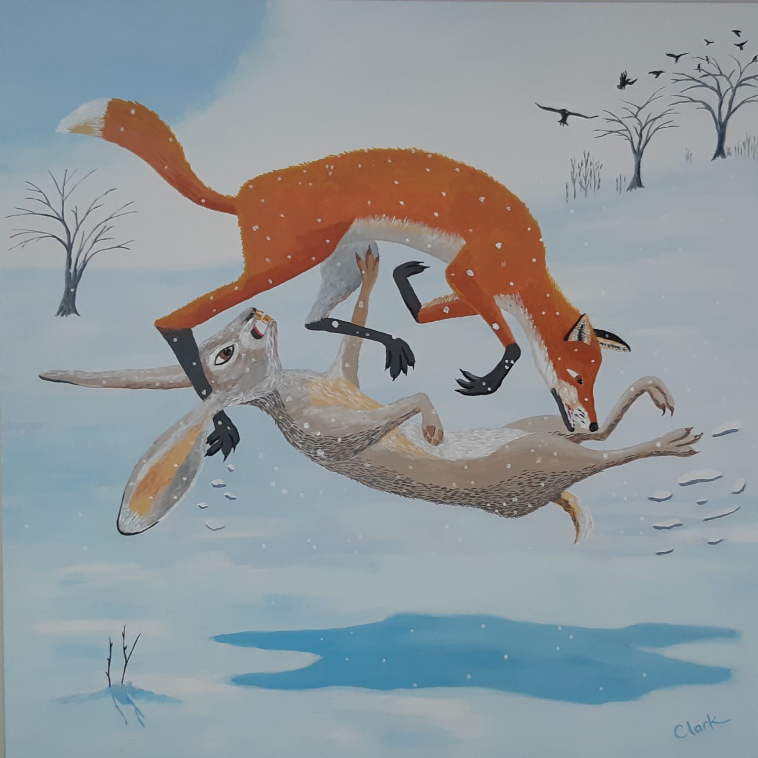 The Fox and the Rabbit by Bev Clark